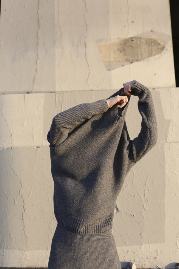PRE-ORDER - Objects Without Meaning Mock Neck Sweater, Grey