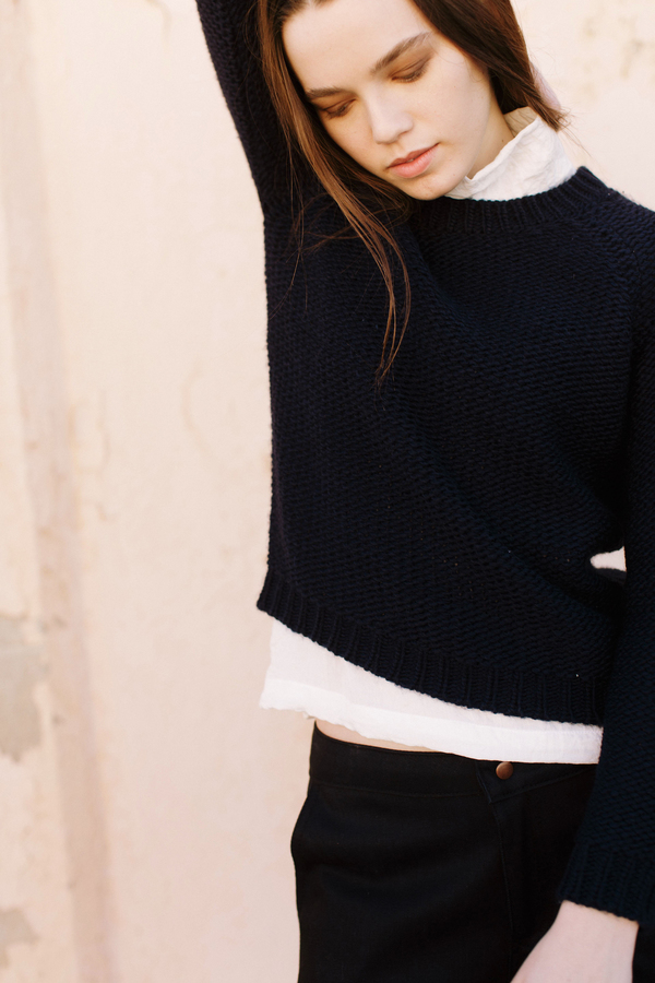 PRE-ORDER - Objects Without Meaning Raglan Sweater, Navy