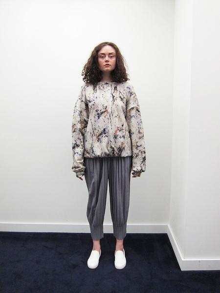 Issey Miyake Fluffy Pleat Pant, Light Grey