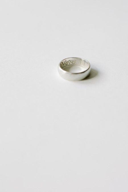 L. SHOFF Sterling Silver Poesy Ring