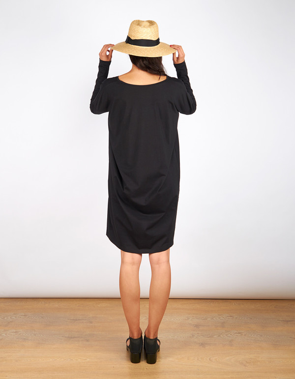Kowtow Building Block Oversized Dress Black