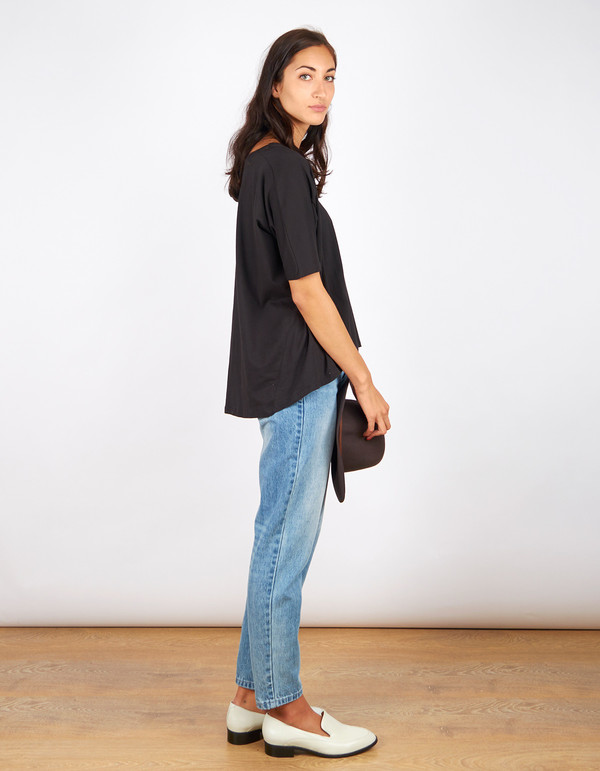 Kowtow Building Block Oversized Top Black