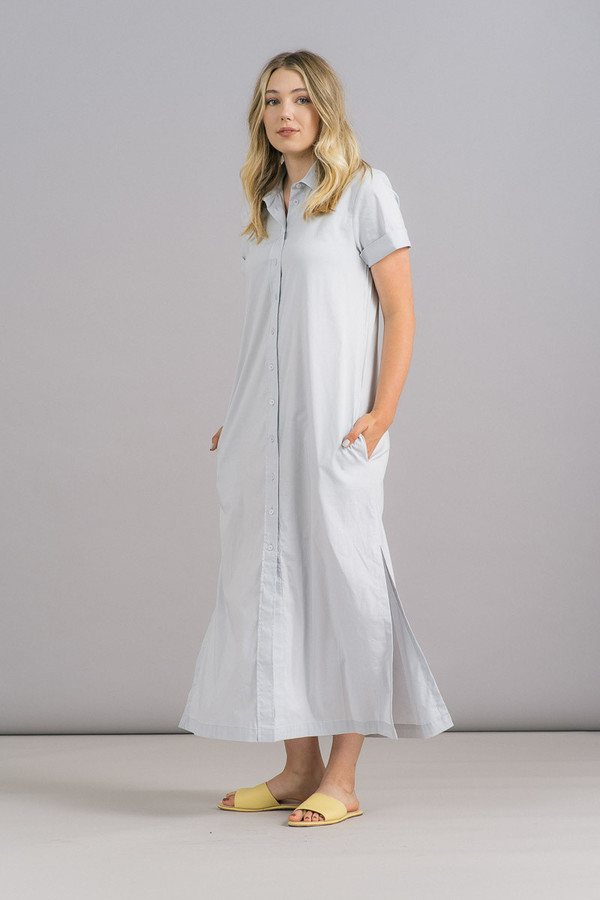 Ganni Misaki Cotton Long Shirtdress