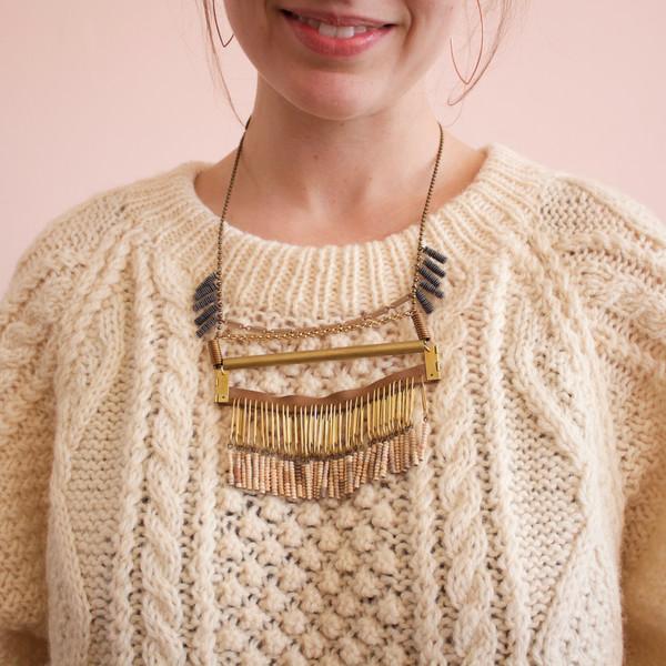 Michelle Hur collage bar necklace
