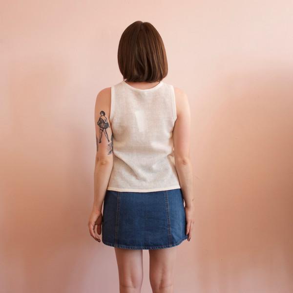 Kordal Mara tank sweater - white