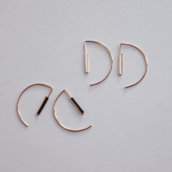 modern crescent earrings