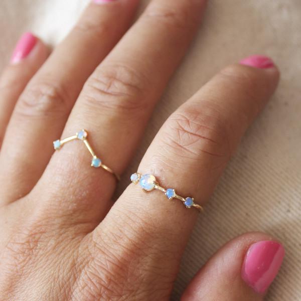 Wwake Opal rings