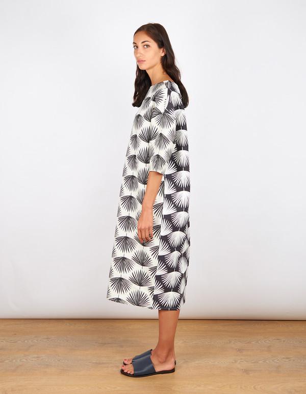 Sunja Link Banquet Collab Dress Palm Print