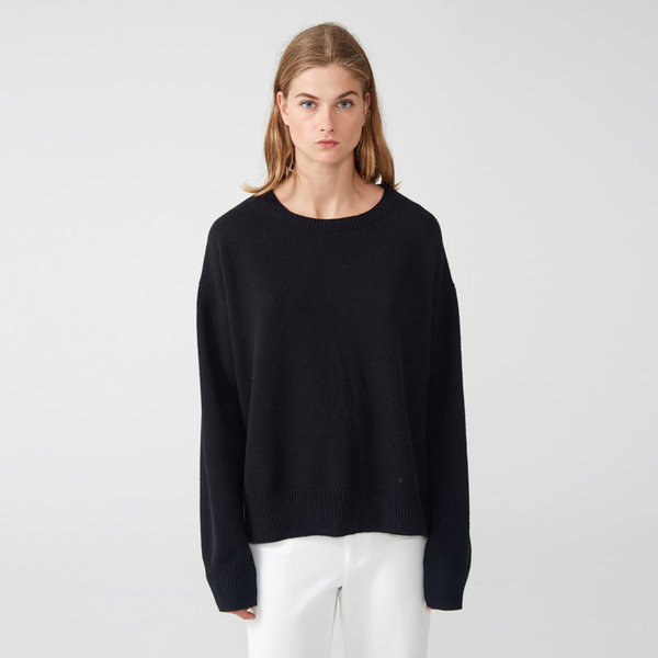 Organic by John Patrick potato sweater - black