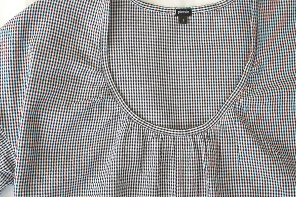 pietsie Mojave Dress in Black and White Check Gingham