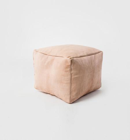 MindaHome Cube Leather Pouf