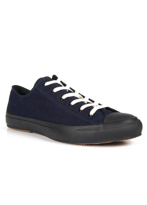 The Hill-Side - Selvedge Indigo Panama Cloth Low Top Sneaker