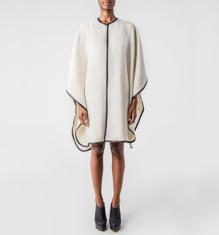 A Peace Treaty Exclusive Ivory Handwoven Cape
