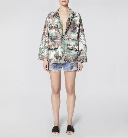 rialto jean project Make Fashion Not War Camo Jacket