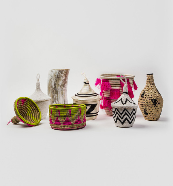 Indego Africa Mini Eyelash Fringe Basket
