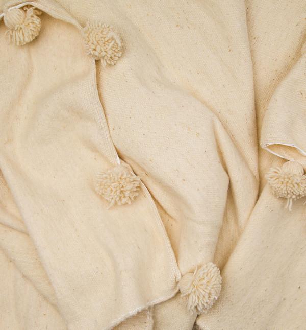 MindaHome Moroccan Pouf Blanket