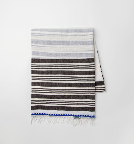 lemlem Safara Big Split Square Scarf Earth