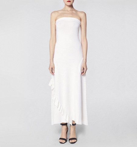 Ryan Roche Strapless Chalk Dress