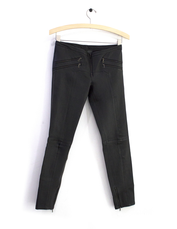 Priory of Ten Black Leather Pant