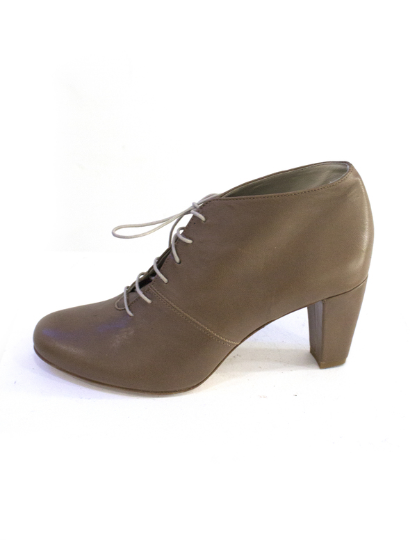 Anniel Scarpa Heel Ankle Boot Natural