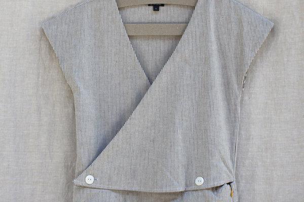 Atacama Jumpsuit in Cream Stripe Seersucker