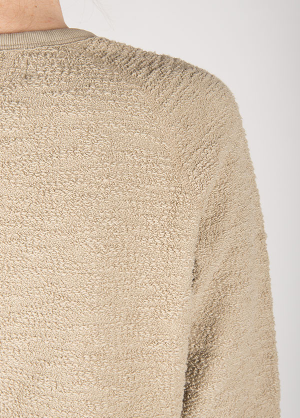 The West is Dead - Reversible Crew Neck Sweatshirt in Brindle Grey