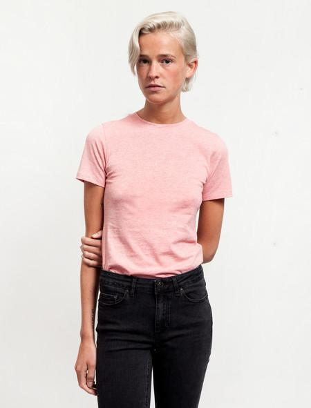 Acne Studios Womens Dorla Tee Pink Mélange