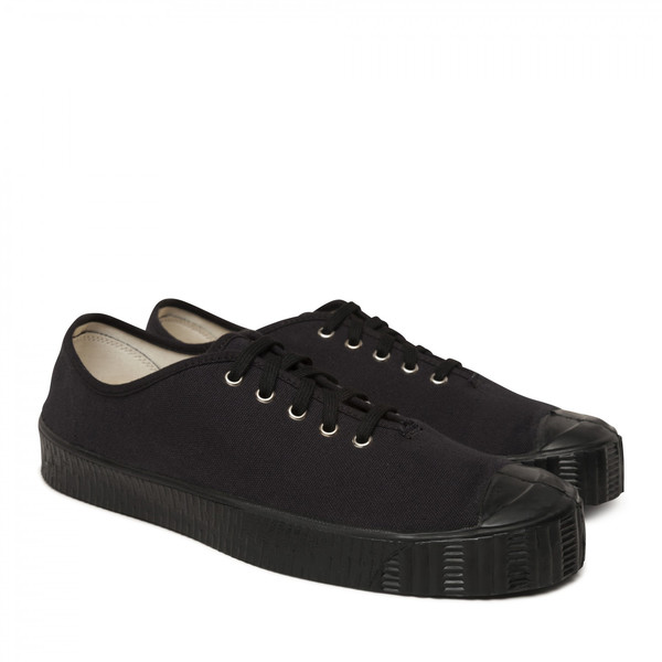 Cotton Special Low V Sneaker - Black