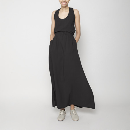 7115 by Szeki Racerback Maxi Dress- Black FW16