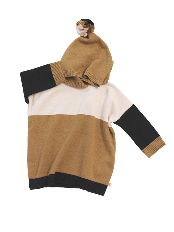 Tinycottons Color Block Poncho Knit