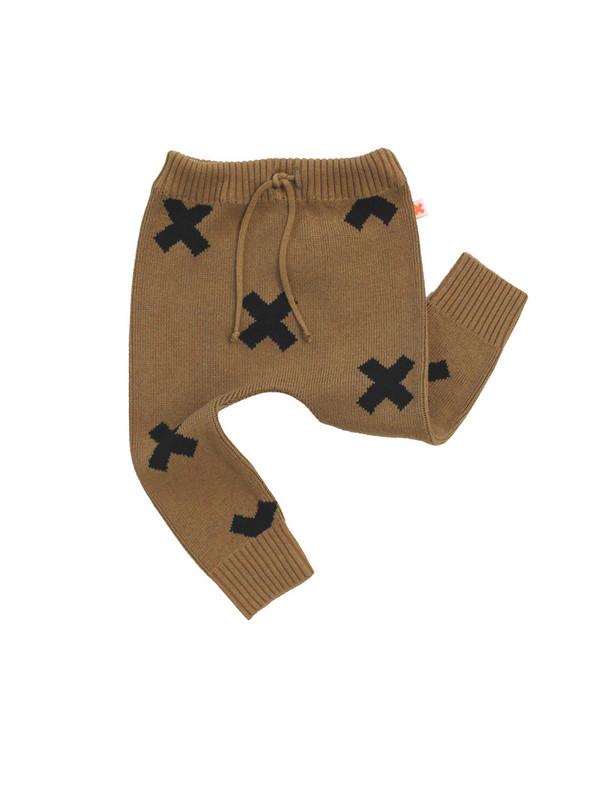 Tinycottons Logo Pant Knit Caramel