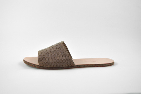 The Palatines Shoes Caelum Slide Sandal - Bark Hex Leather