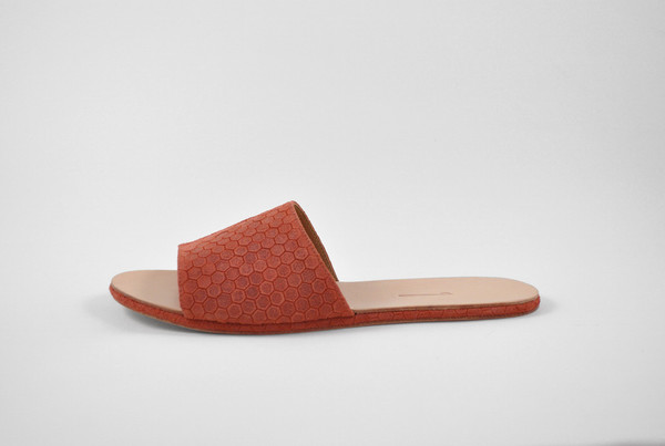 The Palatines Shoes Caelum Slide Sandal - Clay Hex Leather