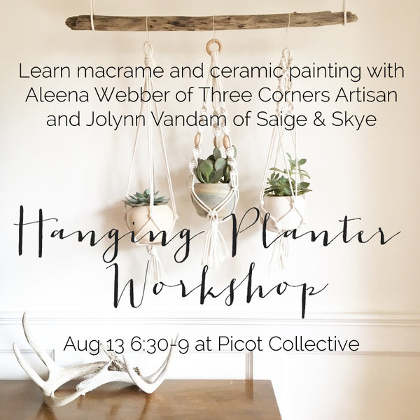 jolynn and Aleena Macrame and Pot Painting Workshop