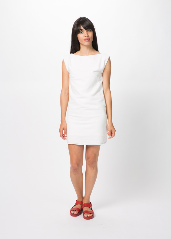 Harvey Faircloth Cotton Boatneck Dress