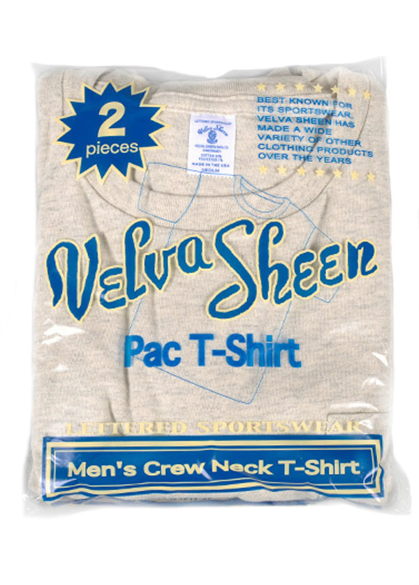 Velva Sheen - Men's Crew Neck Pocket T-Shirt 2-Pack in Oatmeal Heather