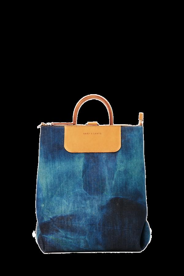Graf & Lantz Bedford Convertible Backpack Washed Denim
