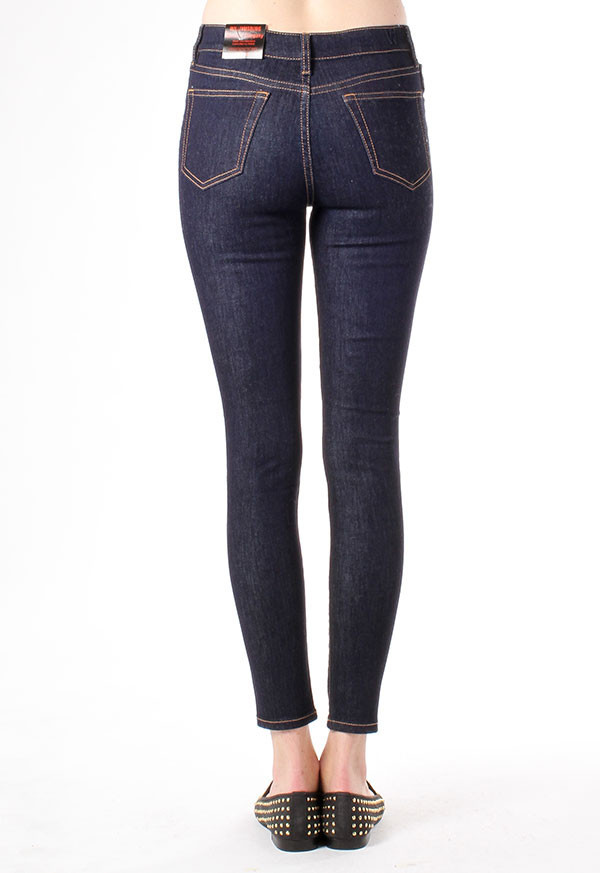 Williamsburg Garment Company - Union Ave Hi Waist Super Skinny in Dark Rinse