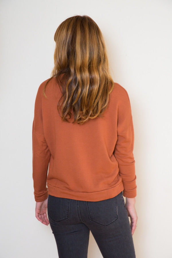 Stateside Rust Long Sleeve Sweatshirt