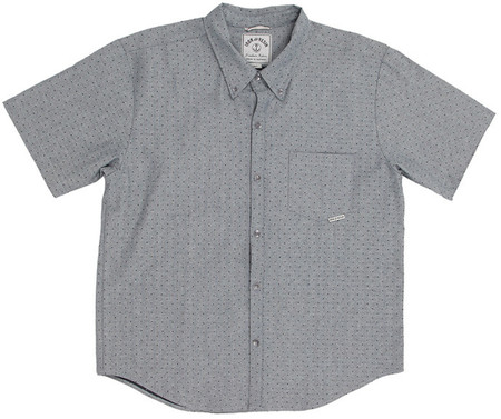 Men's Iron and Resin CHEMISE DELACROIX PEWTER / DOTS PRINT SHIRT