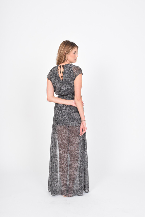 BETWEEN TEN Abstract Dress - Grey