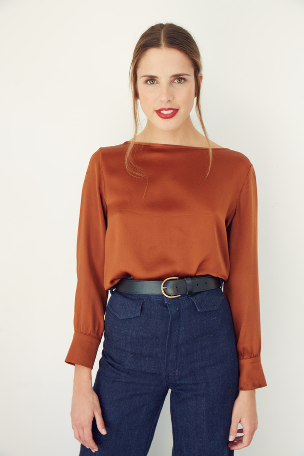 BETWEEN TEN Alpine Blouse - Rust