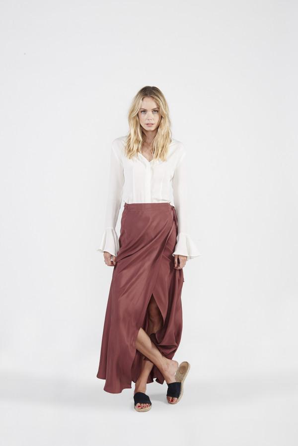 Siena Wrap Skirt - Marsala