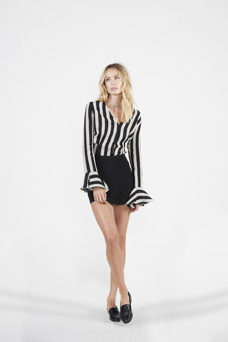 BETWEEN TEN Tuscan Bell Sleeve Top - Striped