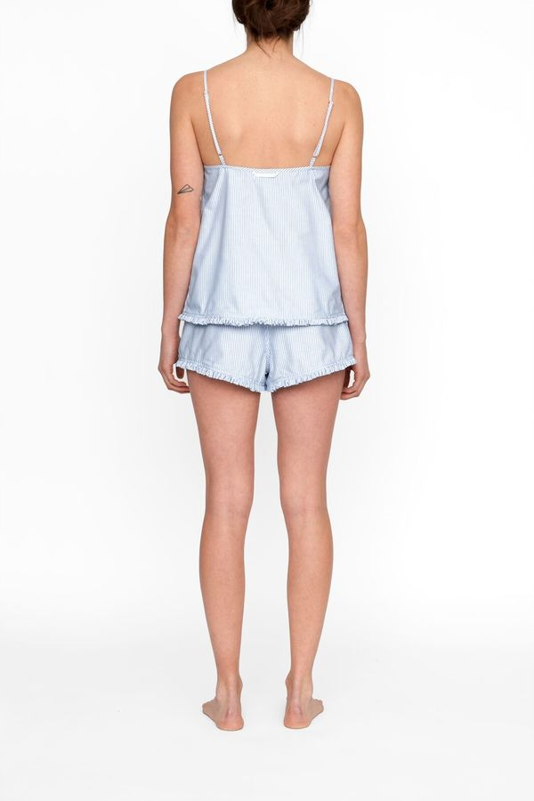 The Sleep Shirt Pin Tuck Camisole in Blue Oxford Stripe