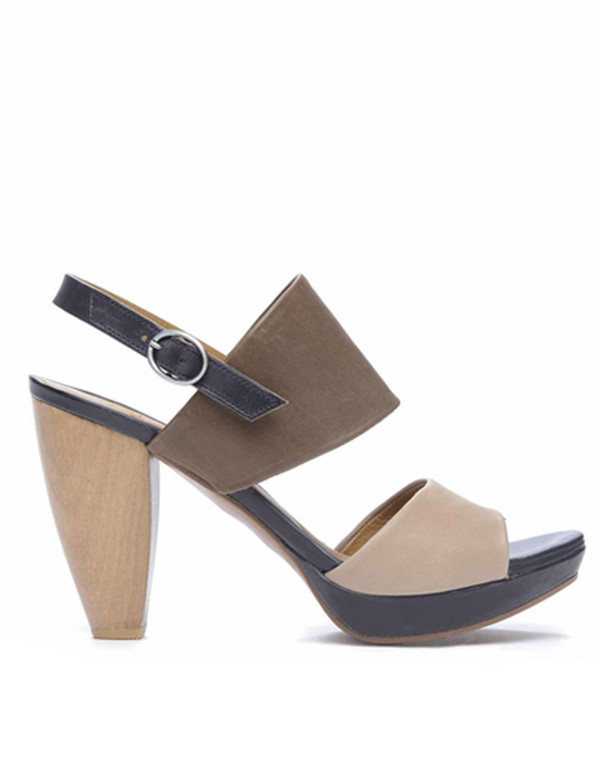 Coclico - 'Frey' Colour-Blocked Wooden Slingback