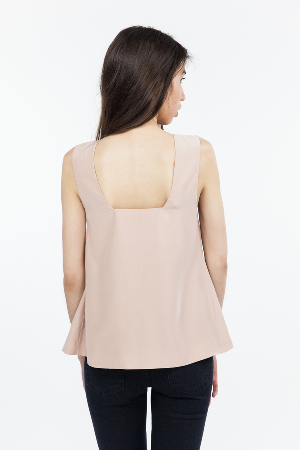 TY-LR The Luxe Silk Sleeveless Top - Sunsand