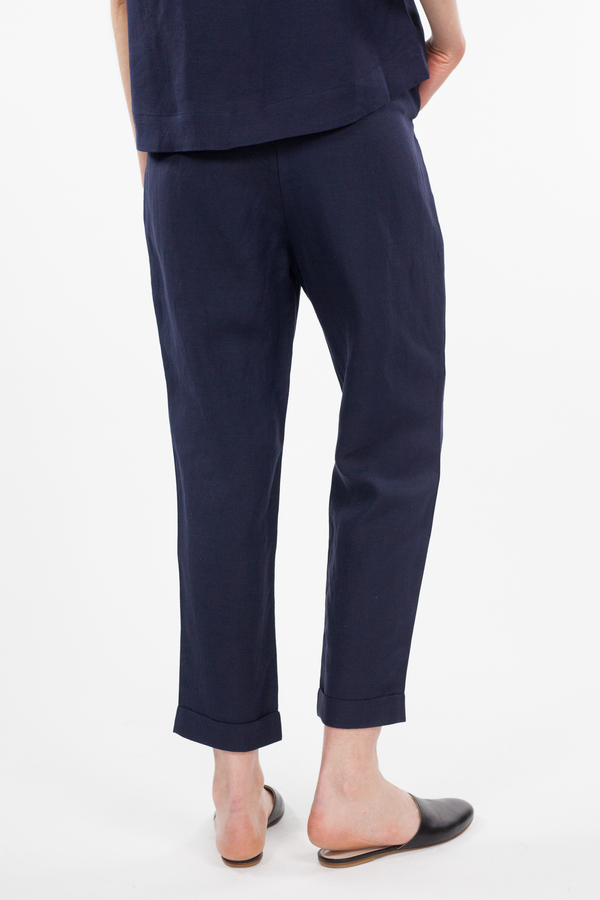 7115 by Szeki Drawstring Relaxed Pant - Navy