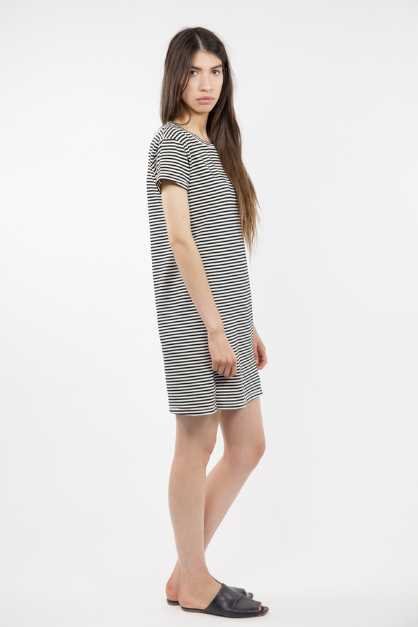 Twist Dress - Mini Stripe