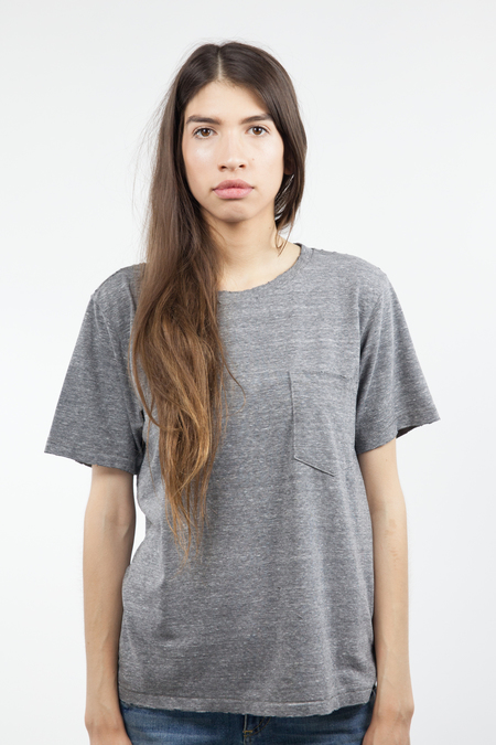AMO Tomboy Pkt Tee - Heather Grey